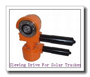 Slewing Drive + Linear Actuator = Dual Axis Solar Tracking System