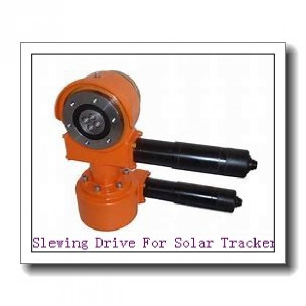 Slewing Drive + Linear Actuator = Dual Axis Solar Tracking System #1 image